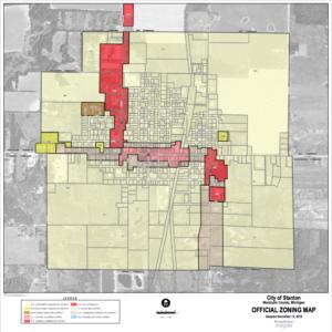 City of Stanton Zoning Map