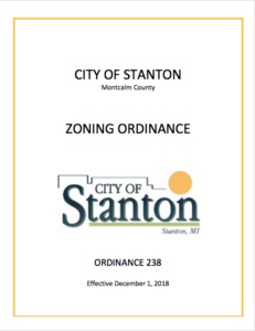 City of Stanton Zoning Ordinance